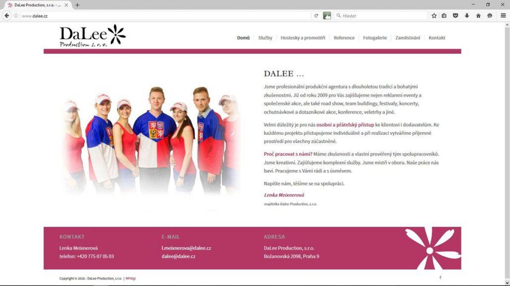 Náhled webu Dalee Production